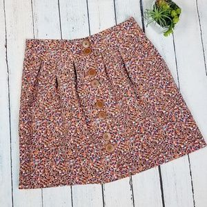 Anthro Elevenses Vevety Multicolored Skirt SZ6